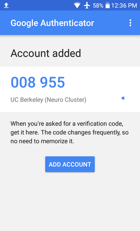Google Authenticator: ADD